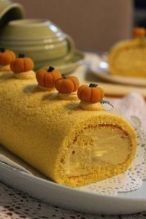 かぼちゃの簡単ケーキレシピ⑤パンプキンロールケーキ