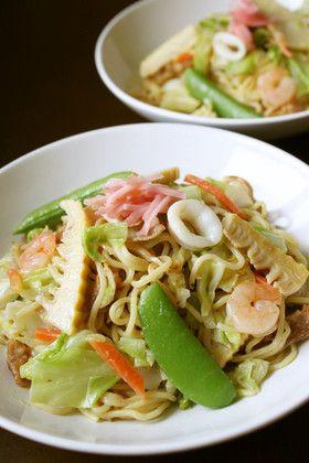 おいしいちゃんぽんレシピ①春野菜で焼きちゃんぽんレシピ