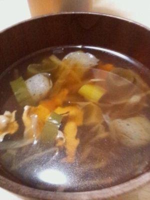 けんちん汁の人気レシピその2:切り干し大根入りけんちん汁