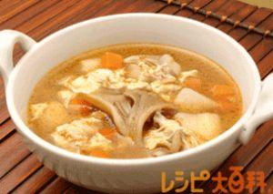 鶏ガラスープで!けんちん汁の人気レシピその4:中華風けんちん汁