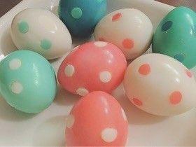 うずらのゆで卵レシピ①:水玉模様のうずらのゆで卵